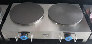 Hot Sale Stainless Double 2 plate Gas Crepe Maker/Doubler Gas Crepe Maker /Gas Crepe Maker