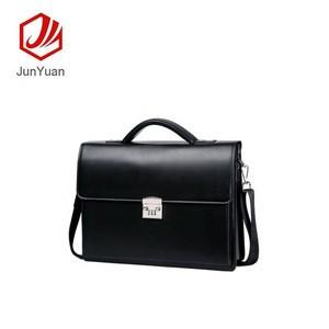 JUNYUAN OEM Office Business Single Shoulder Cross Bag Pu Leather Briefcase, Laptop Bag For Men