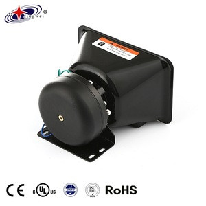 New Arrival Product Black Car Ambulance Aluminum Horn Speakers For Sale