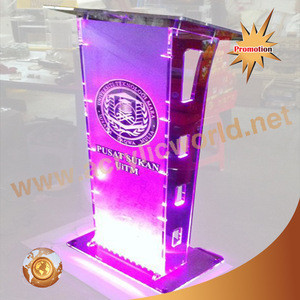 Podium with Acrylic Front Panel Lectern Display