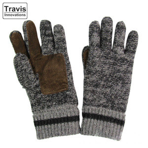 Pure Wool Knitted Gloves With Warm Cotton Lining