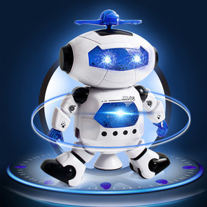 Space Smart electronic musical educational intelligent rc toy naughty walking dancing robot for children kids with light