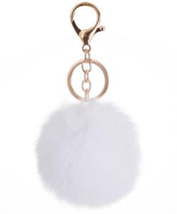 Wholesale Pom Pom For Beanie Hats, Snap On fluffy fox fur Pompom, Detachable Faux raccoon Fur Ball keychain