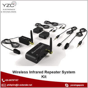 Wireless Infrared Repeater System Kit to Control  AV Receiver and DVD Blu-Ray Player