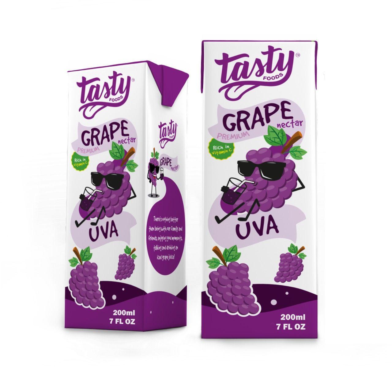 TASTY FOODS - GRAPE JUICE NECTAR PREMIUM - 200ML