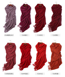2020 winter Mongolian 100% cashmere scarf solid warm long pure cashmere shawls high quality OEM custom scarf cashmere