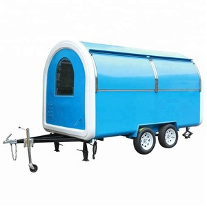 5feet dry truck body 53ft refrigeration trailer 530kg gas fuel mobile food truck