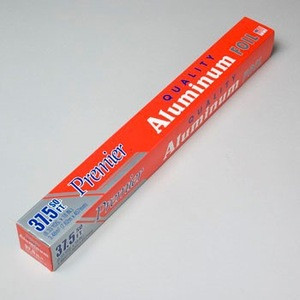 """ALUMINUM FOIL HVY DUTY 37.5SQ FT 18"""" X 8.33YDS MADE IN USA #18375"""