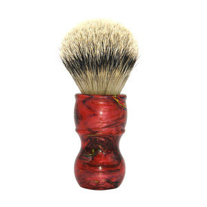 Amazon Hot Sale Cheap Synthetic Hair Shaving Brush With Acrylic Handle for Shaver Shop