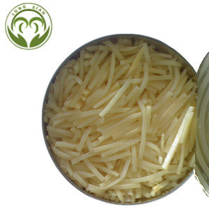 Canned bamboo shoot strips in water