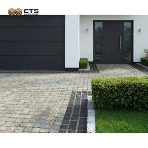 Grey Flamed Natural Stone Interlock Landscape Driveway Granite Pavers