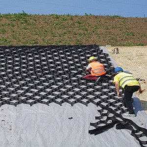 HDPE Geocell textured and perforation