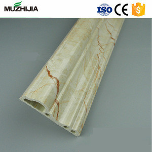 High Quality Marble Wooden designs PVC door frame Decorative mouldings Profiles