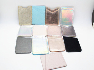 Hot selling POCKET CARD MINI MOBILE PHONE case 3M leather CREDIT CARD HOLDER