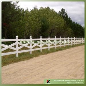 "KJA-04 1.37m high 5""x5""post 1.5""x5.5""rail 4 rail cross rail white vinyl pvc ranch fence"