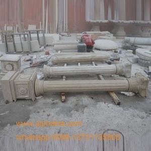 Large White Marble Roman Pillar For Sale