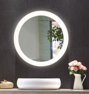Modern Fashion Luxury  Frameless Custom Wall Mounted Round LED Vanity Cosmetic Makeup Mirror