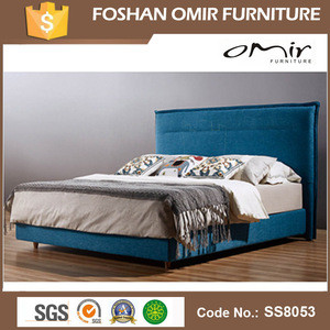 Omir funiture leather bedroom fabric beds frames SS8053