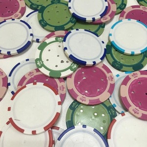 Plastic colorful poker chip factory directly