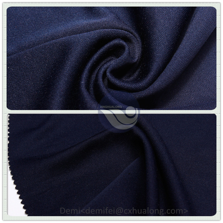 Polyester spandex 2x2 rib knit fabric / tubular rib - knitted fabric for sports collar