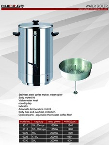 Portable electric stainless steel water heater 10L