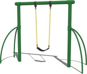 Single Double Seats Outdoor Swing Set
