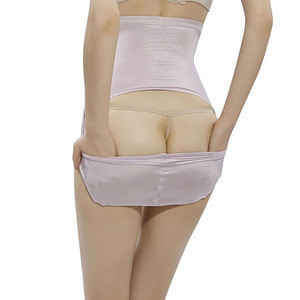 Slimming Light Pink Ice Silk Breathable Abdominal Control Butt Lift Body Shaper Panty