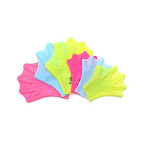 Soft silicone swimming hand paddles best diving training gloves