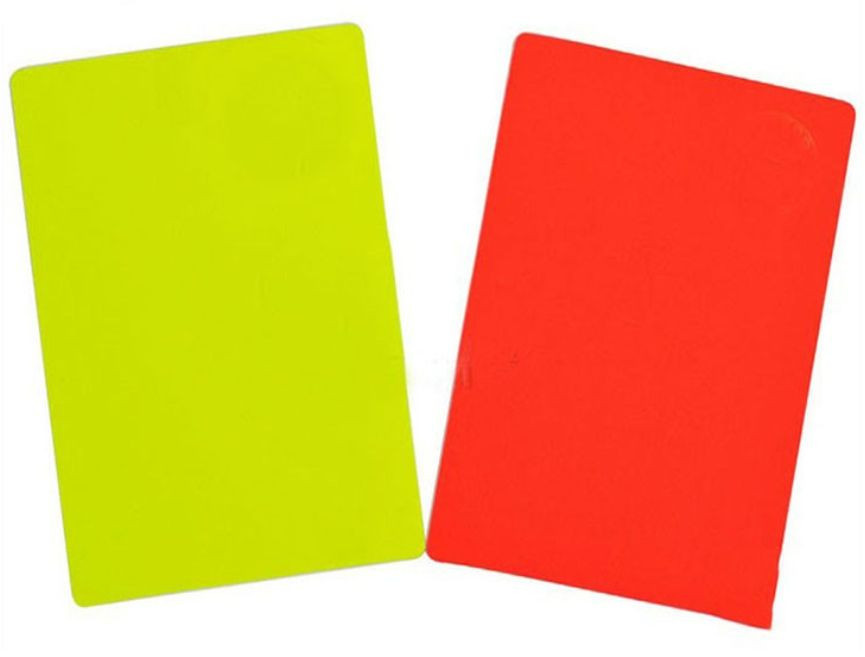 Referee Cards, red/yellow