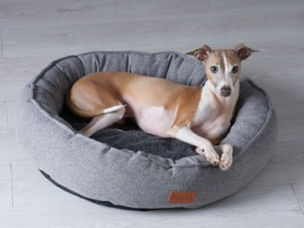 Round Plush Dog Cat Pet Bed -Warming Pet Bed