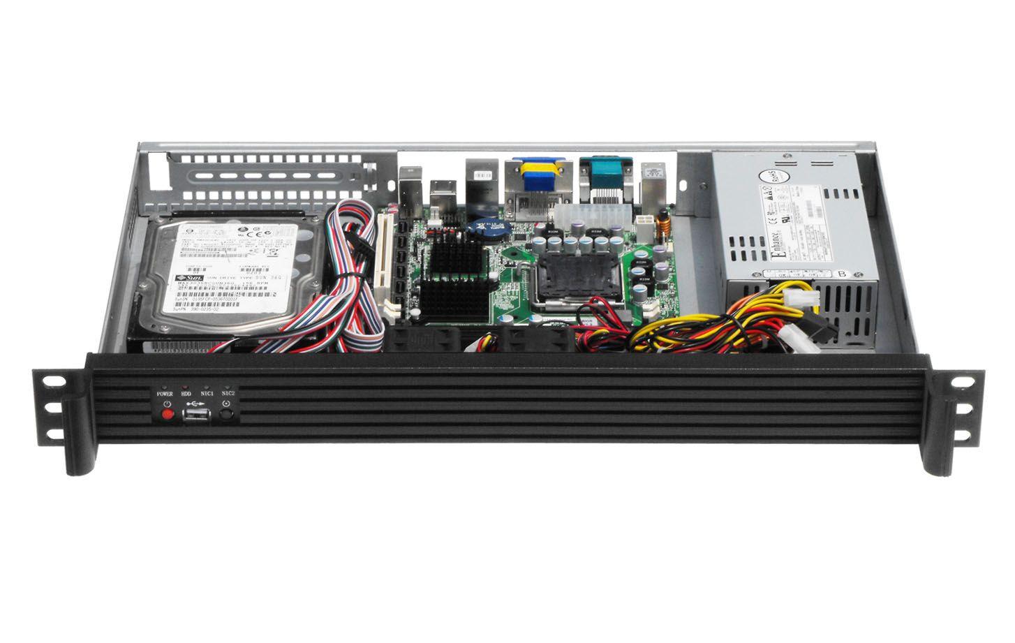 1U250L Mini Smallest Server case Support Mini-ITX Mainboard