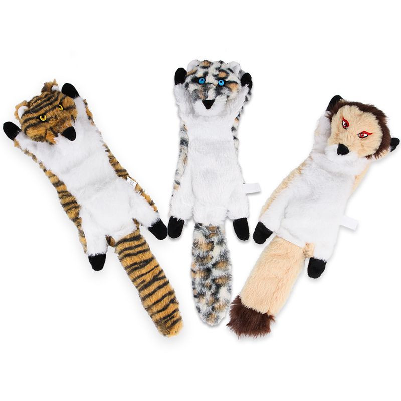 Manufacturer wholesale lion tiger squeaky plush dog leopard toy