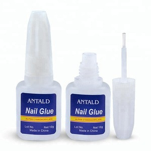 10g Nail Glue Glitters DIY Nail Art Nail Art Sticker Accessory Adhesive Tool Fast Drying Manicure Glue with Brush