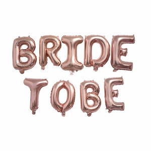 16inch Rose Gold Bride To Be Letter Foil Balloon heart Balloons Hen Party Decorations Wedding Bachelorette Party Supplies