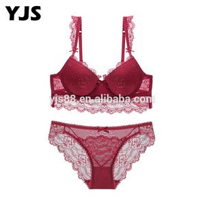 2019 New Padded Cute Hot Open Bf For Beautiful Women Ladies Young Teen Girl Push Up Match Set Sexy Bra And Panty