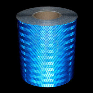 Import 50m*20cm Motorcycle decoration Reflective Tape Custom Strips Safety Material Warning Adhesive Tape Battenburg markings from China