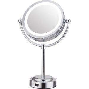 Advanced hollywood style  table stand magnifying desktop Led Makeup Mirror with magnification