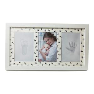 Babyprints Newborn Baby Handprint and Footprint Desk Photo Frame & Impression Kit