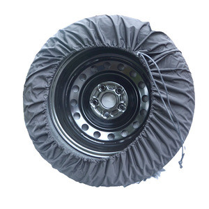 """Black Spare Tire Cover WaterProof Dust-proof Universal Spare Wheel Tire Cover Fit for Jeep,Trailer, RV, SUV and Many Vehicle 15"""""""