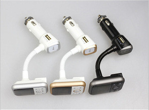 Car mp3 player with fm transmitter usb car charger