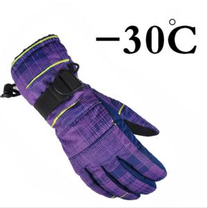 Children Winter Warm Ski Gloves Boys Girls Sports Waterproof Windproof Snow Mittens Extended Wrist Skiing Gloves