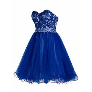 China Factory Beautiful Beaded Puffy Designer Short Prom Dress for Women
