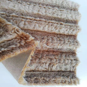 China products wholesale 100% polyester  faux fur fabric Artificial long  wool imitation wool