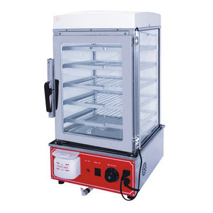 Commercial stainless steel electric fast food display steamer