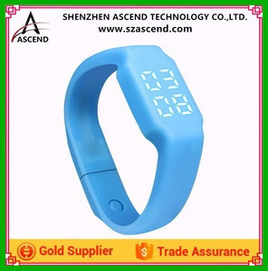 Direct Manufacturers Silicone Smart Bracelet W1P, 3D Bracelet Pedometer, Temperature Monitor, Sleep Mpnitor