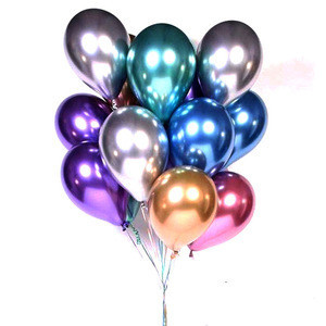 Factory wholesale thick metal color latex balloons children birthday wedding party decoration balloons