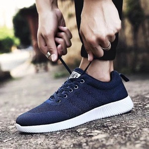 Fashion breathable line sports shoes outdoor leisure mens shoes