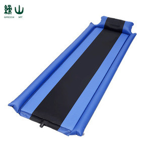 Folding Ultralight Camping Mat Inflating Automatic Sponge Inflation Bed Air Sleeping Pad With Armrest And Pillow