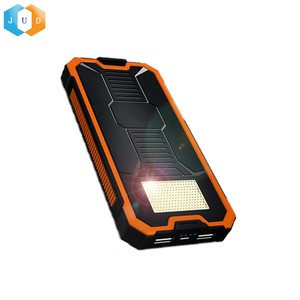 JUDING 10000Mah Portable Solar Charger Power Bank, Sunlight Cell Phone Power Bank Charger, Solar Panel Powerbank Charger