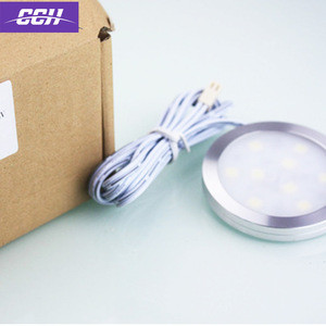 Kitchen cabinet sensor round led lights flashlight Induction lamp with sweeping switch battery Intelligent